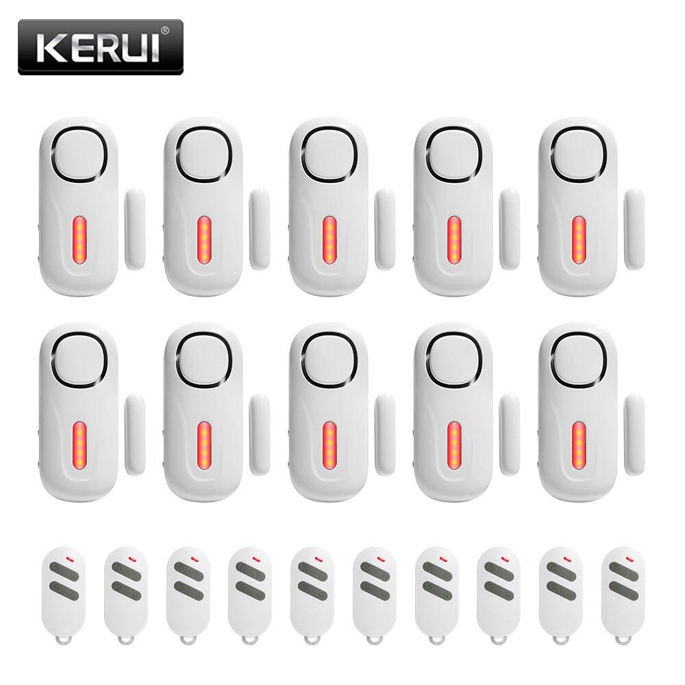 KERUI-Sensor de ventana de puerta D2, sirena integrada de 120dB, Sensor de alarma independiente de seguridad para el hogar con mando a distancia Kit de alarma para cocina, DETECTOR de GAS por voz, alarma independiente para la UE, pantalla LCD Natural, SENSOR de fugas de GAS con alarma