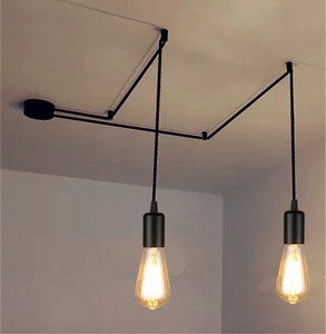 Vintage simple pendant light europe metal contemporary lamp bar shop modern dinning hanging decoration lighting fixture LED bulb