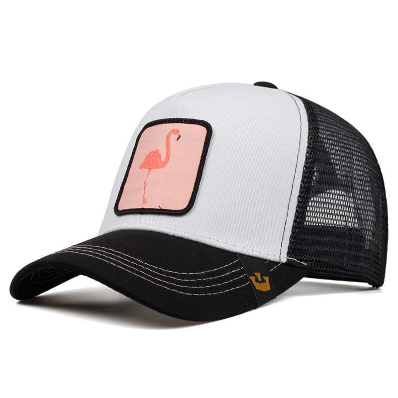 High Quality Fashion Flamingo Baseball Cap Fashion Autumn And Winter Outdoor Visor Hat Men And Women Models Breathable Mesh Caps