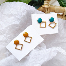 Color earrings round shaped geometry fashion exquisite beautiful with women of the new accessories