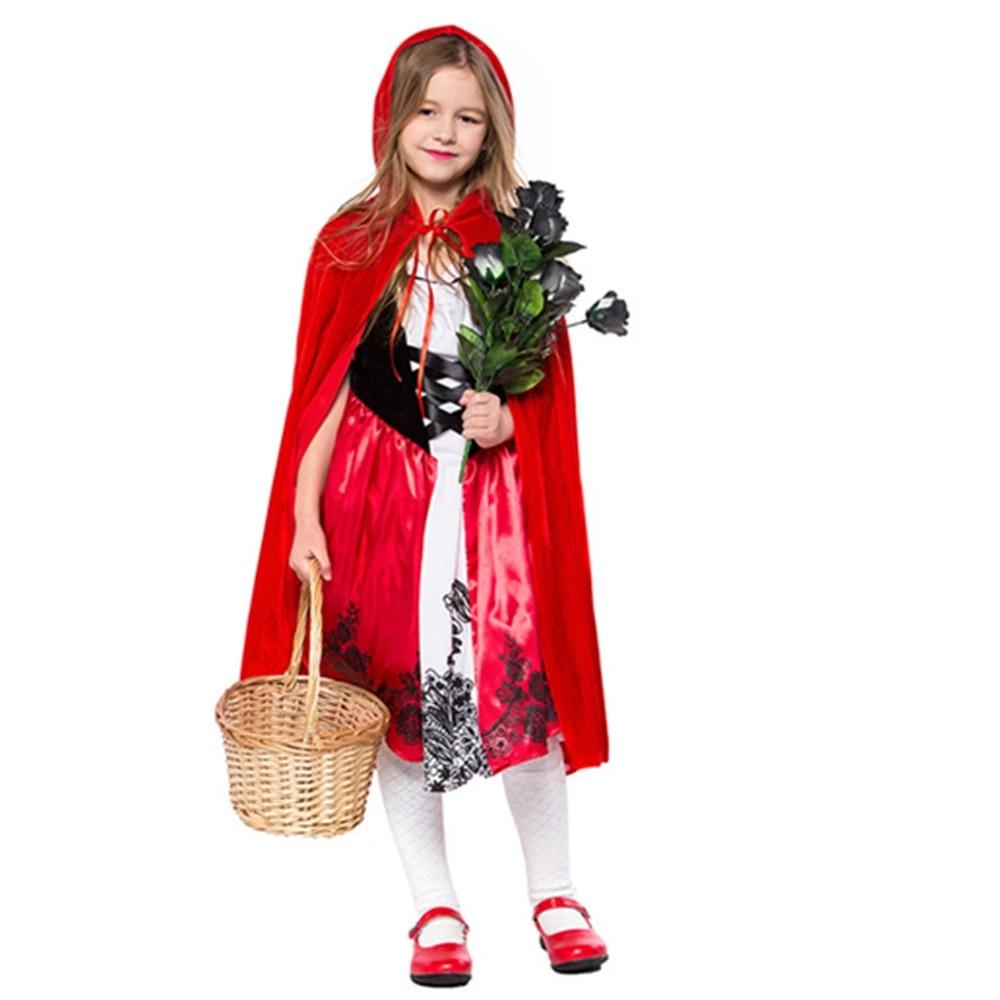 Halloween 2020 Little Red Riding Hood Costume 2020 Little Red Riding Hood Cosplay costume for kids Dress