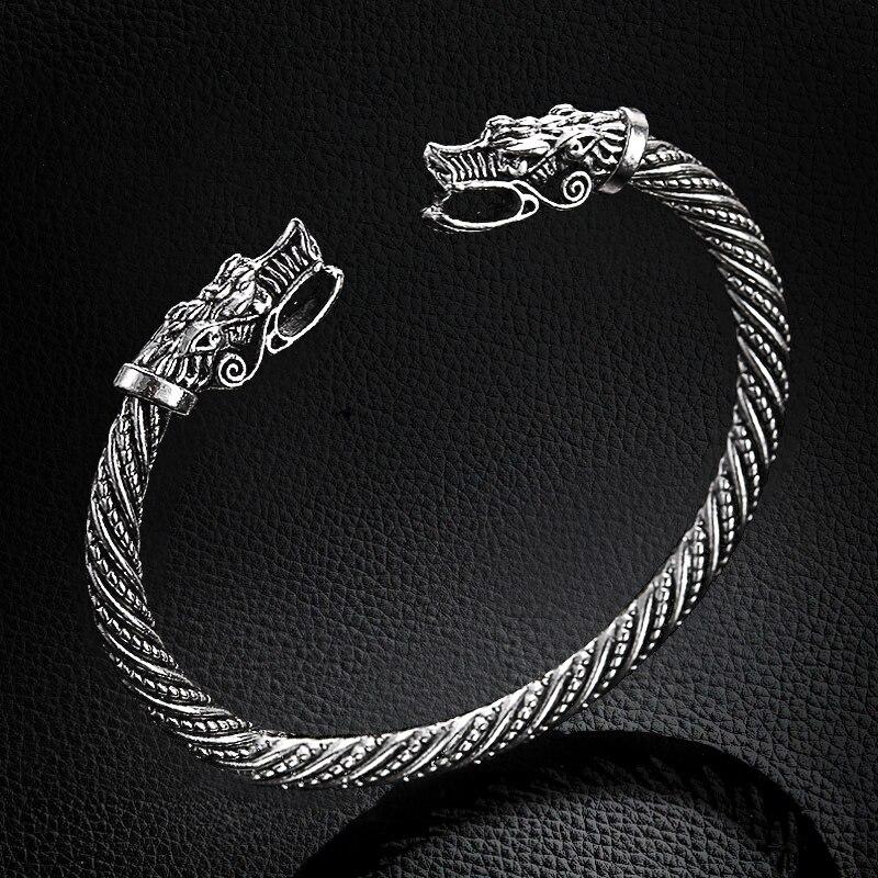 Bracelet tête de Dragon bouche ouverte  5