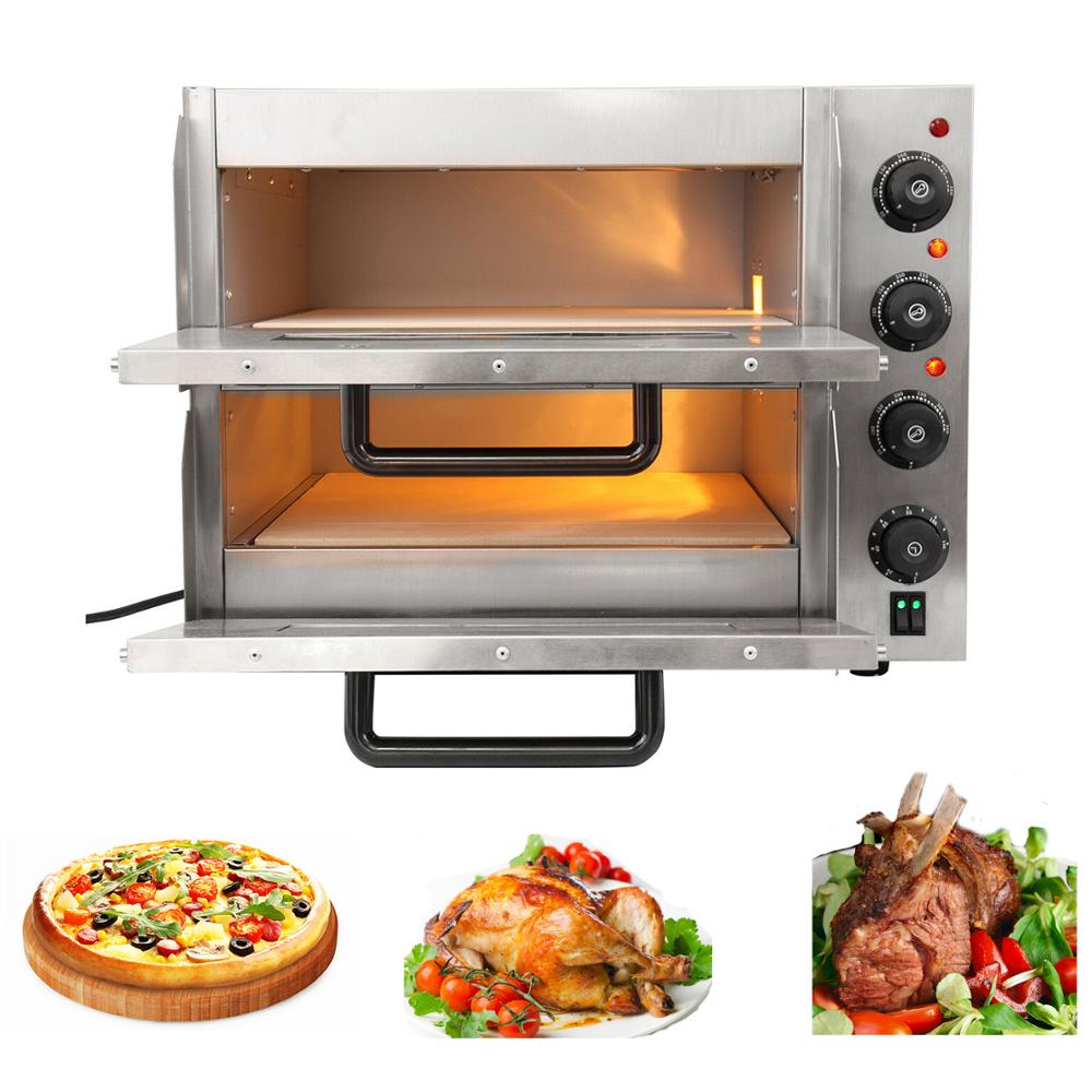 3KW Electric Oven Baking Pizza Oven Commercial Home Catering Double Layer Bakery Roaster|  - title=