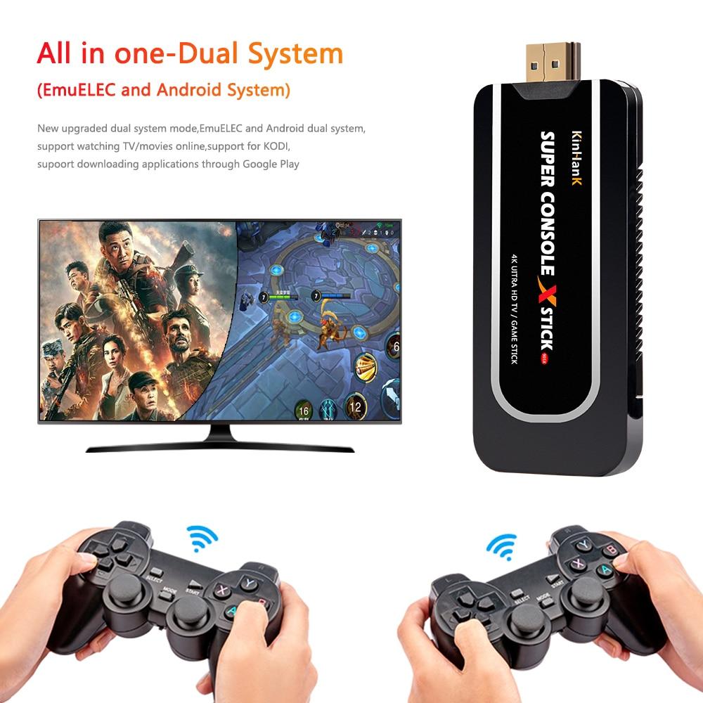Супер видео Игровая приставка X палка 4K HD Дисплей на ТВ Проектор Монитор классический ретро 50000 игры двойной контроллер плеер