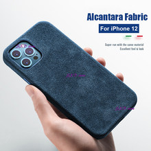 Роскошный телефонный чехол из алькантары для iPhone 11 12 Pro Max, кожаные чехлы для iPhone 12pro X XR XS MAX, защитные чехлы Capa