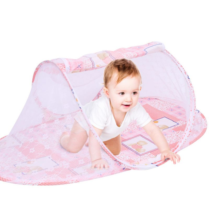 Kids Baby Summer Foldable Mosquito NetPortable Folding Baby Travel Bed Baby Cots Newborn Tent