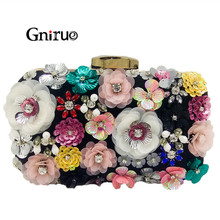 Crystal Clutch Bridal Handbag Purses Flower Evening-Bag Socialite Wallet Women Brand