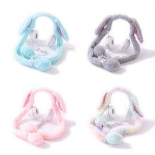 Светящиеся плюшевые шапки с движущимися кроличьими ушками, головные уборы, танцевальные уши кролика