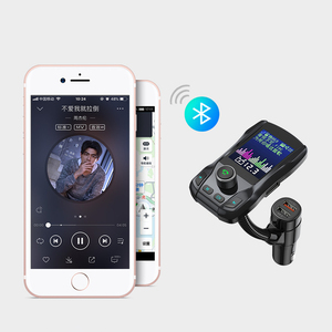 Image 5 - Caricabatterie per auto Kit vivavoce Wireless Bluetooth 350 ruotabile Car MP3 Audio 5V 2.1A Dual USB carica schermo a colori trasmettitore FM