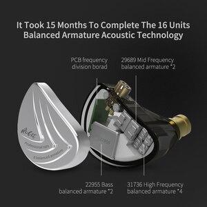 Image 3 - KZ AS16 8BA Driver Unit In Ear Earphone 8 Balanced Armature HIFI Monitor Resolution IEM Detachable 2Pin Cable CCA C16 C12 ZSX