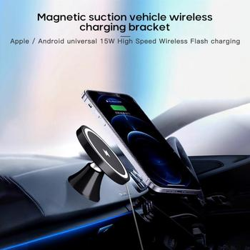 Wireless Car Charger Mount Fast Charging Holder For IPhone 12 Mini Pro Max Samsung S20 Xiaomi Huawei Fast Charging Phone Holder image