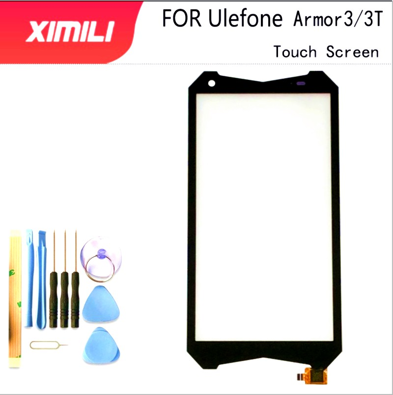 <font><b>5</b></font>.7''Tested <font><b>100</b></font>% Original Mobile TouchScreen Glass For Ulefone Armor <font><b>3</b></font> 3T Touch Screen Digitizer Panel Front Glass Lens Sensor image
