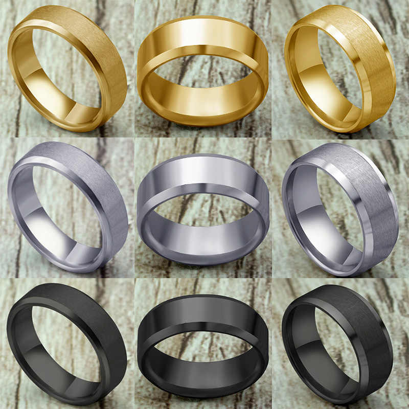 Fashion Simple Matt 316L Stainless Steel Rings for Women 2020 jewelry wholesale Party Gift Dropshopping