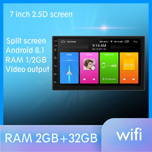 Android 8.1 Car Radio Stereo GPS Navigation Bluetooth wifi Universal 7 2din 2.5D IPS Car Radio Stereo Quad Core Multimedia