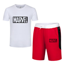 Hot Sale Mens Sets T Shirts+Shorts Summer Two Pieces Casual Tracksuit Male 2019 Tshirt Gyms Fitness Shorts men