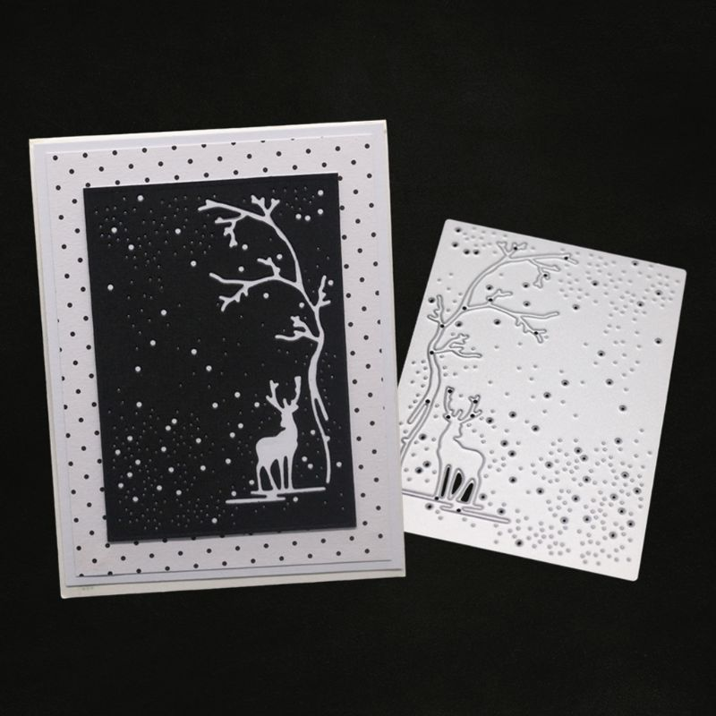 Tree Cover Metal Cutting Dies Stencil DIY Scrapbooking Album Stamp Paper Card Em