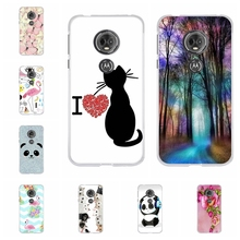 For Motorola Moto E5 Case Soft TPU Silicone G6 Play Cover Forest Patterned E 5th Gen. Shell