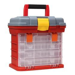 4 Layer Fishing Tackle Portable Toolbox Outdoor Tool Case Screw Hardware Plastic Storage Box tool box with Locking Handle