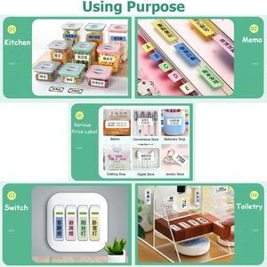 Image 5 - Niimbot D11 Mini Label printer paper Supermarket Price Label sticker Waterproof Anti Oil Tear Resistant Pure Color