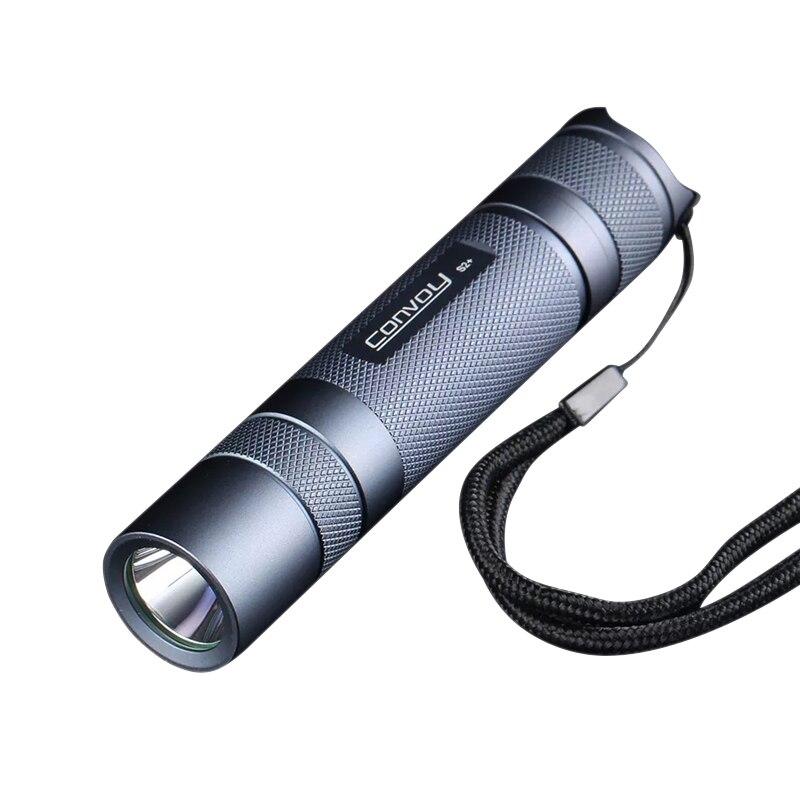Linterna gris para gestión de protección de temperatura 5000K 6500K 18650 LM SST40 S2 + SST40 para Camping linterna LED para cacería