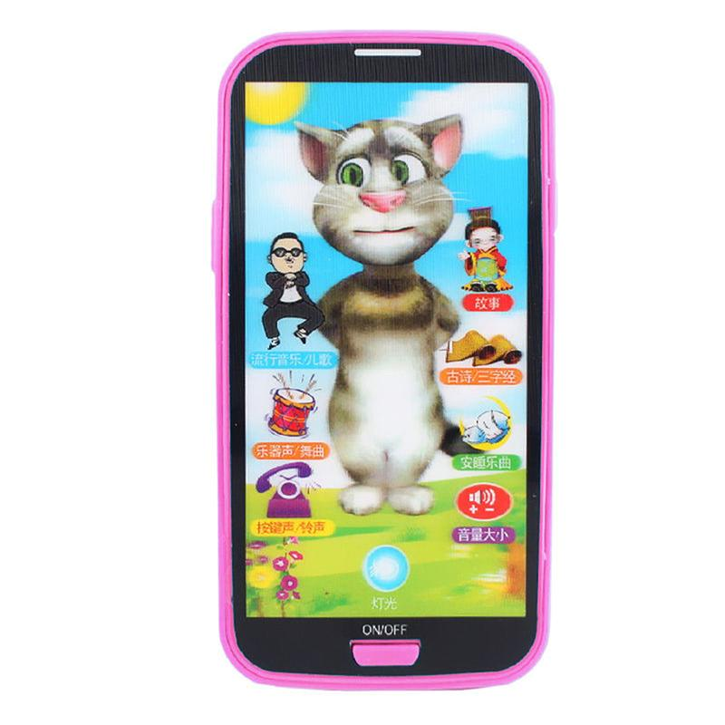 Baby Educational Phone English Learning Mobile Phone Screen Phone Toy Gift Learning For Children Simulator Toys Music B0U5