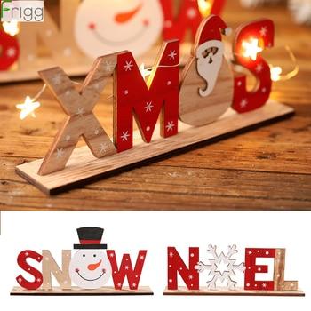 2019 adornos de Navidad de madera colgante de Navidad feliz Navidad decoración para la decoración de Navidad del hogar Navidad 2020 regalos de Año Nuevo