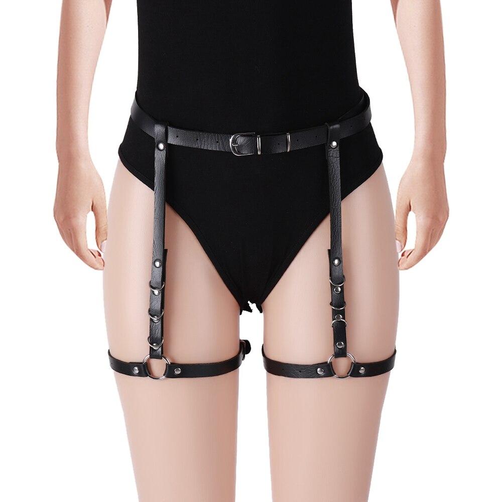 Women's Lingerie Sword Belts Sex Costumes Bdsm Bondage Suspender Leather Sexy Harness Garter Body Strap Belt Stockings Gothic