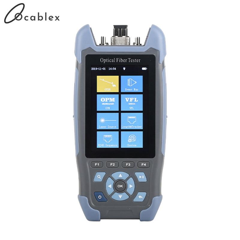 Réflectomètre optique Mini-Pro OTDR 9 fonctions dans 1 dispositif OPM OLS VFL carte d'événement RJ45 câble Ethernet Tracker