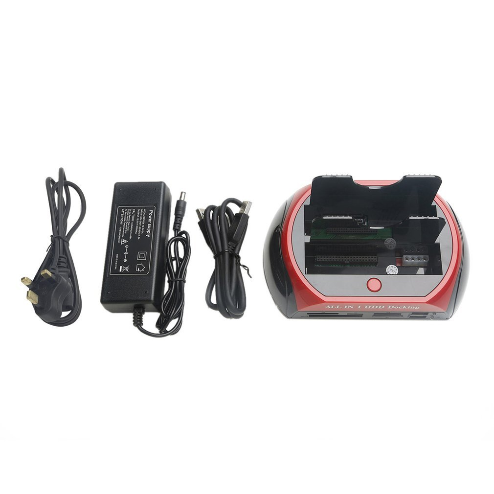 USB 3.0 IDE SATA Dual All In 1 2.5 3.5 Inch Hdd Docking Station Hard Disk Drive SD/TF Reader External Box Enclosure