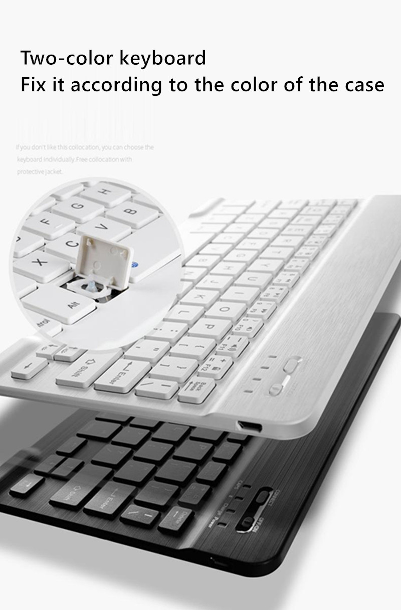 with Bluetooth iPad 7th-Generation Apple Cover for Pencil-Holder Keyboard-Case
