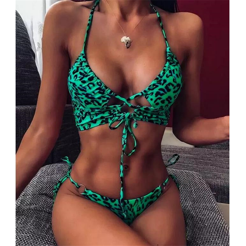 1PC Women Swimwear Push up Soft font b Bra b font Bandage Bikini Set Swimsuit Triangle