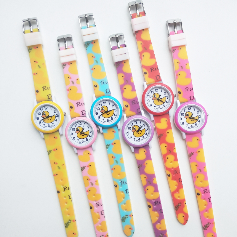Fashion Hbibi Brand Girls Watches Kids Daily Waterproof Cartoon Duck Watch Children Student Clock Electronic Quartz Wristwatches
