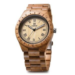Image 5 - Кварцевые деревянные наручные часы UWOOD браслет женский Повседневный простой винтажный деловой мужской подарок