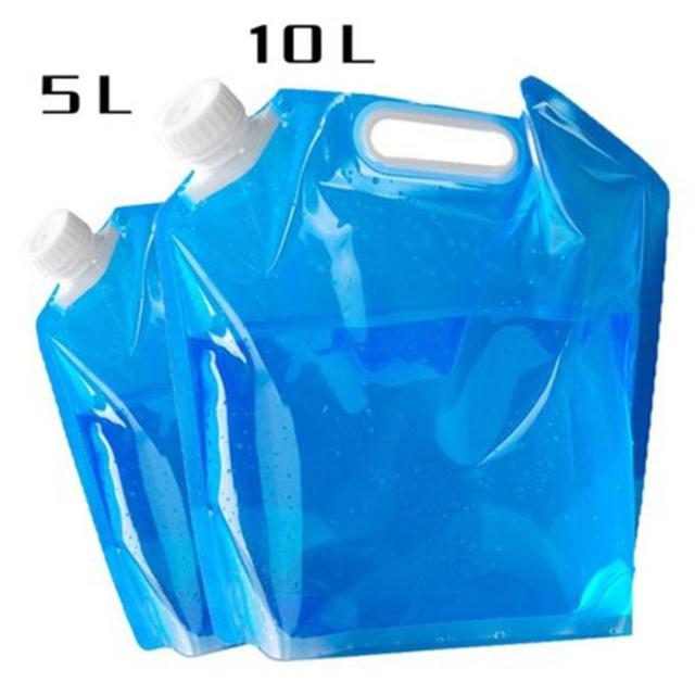 New Folding Water Container PVC Foldable Water Storage Container Water Bags for Sport Camping Hiking Picnic BBQ Water Resistant 5