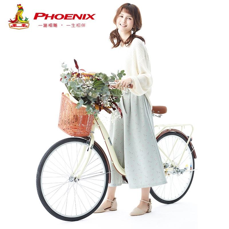 フェニックス 20''24''26'' 女性バイク大人レトロ市学生自転車ドラムブレーキ自転車女性 bisiklet bicicleta bicicletas  グループ上の スポーツ & エンターテイメント からの 自転車 の中 1