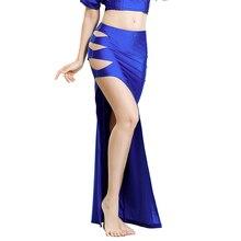 여자 밸리 댄스 의상 드레스 싱글 슬릿 롱 스커트 레이디 벨리 댄스 스커트 오리엔탈 벨리 댄싱 의류 경쟁 복장