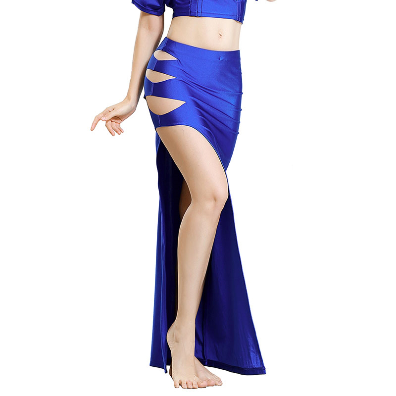Women Belly Dance Costume Dress Single Slit Long Skirt Lady Bellydance Skirts Oriental Bellydancing Clothes Competition Outfit