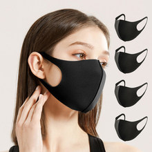 5/10/15 Pcs Fashionable Cotton Anti-Dust Face Mouth Masks Cover Black Reusable Washable Cubrebocas Mascarilla