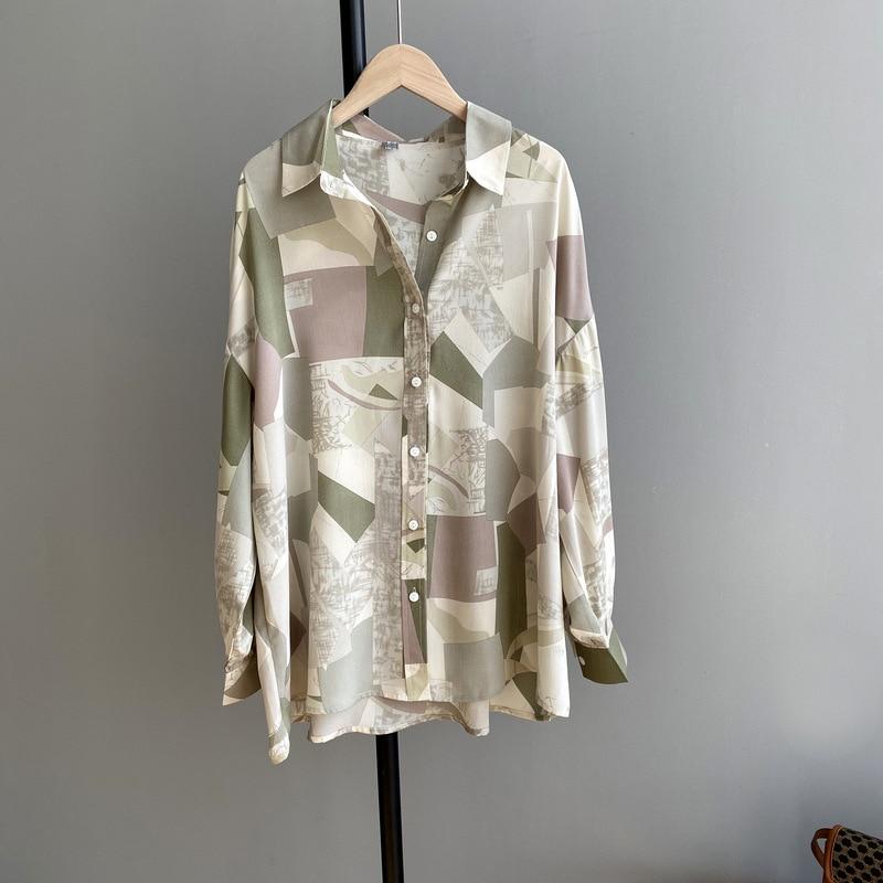 2020 Women Spring Blouses Turn Down Collar Long Sleeve Women Tops And Blouses Vintage Print Shirt Blusas Roupa Feminina Outwear