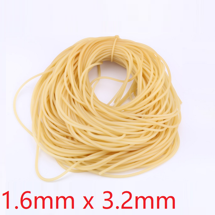 ID 1.6mm X 3.2mm OD Nature Latex Rubber Hoses Flexible Pipe High Resilient Elastic Surgical Medical Tube Soft Slingshot Catapult