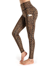 Hidden Pocket Leopard Yoga Pants Seamless Camo Leggings With Side Pockets High Waist Floral Workout Leggings Womens Active Wear green side pockets camouflage drawstring waist active bottoms