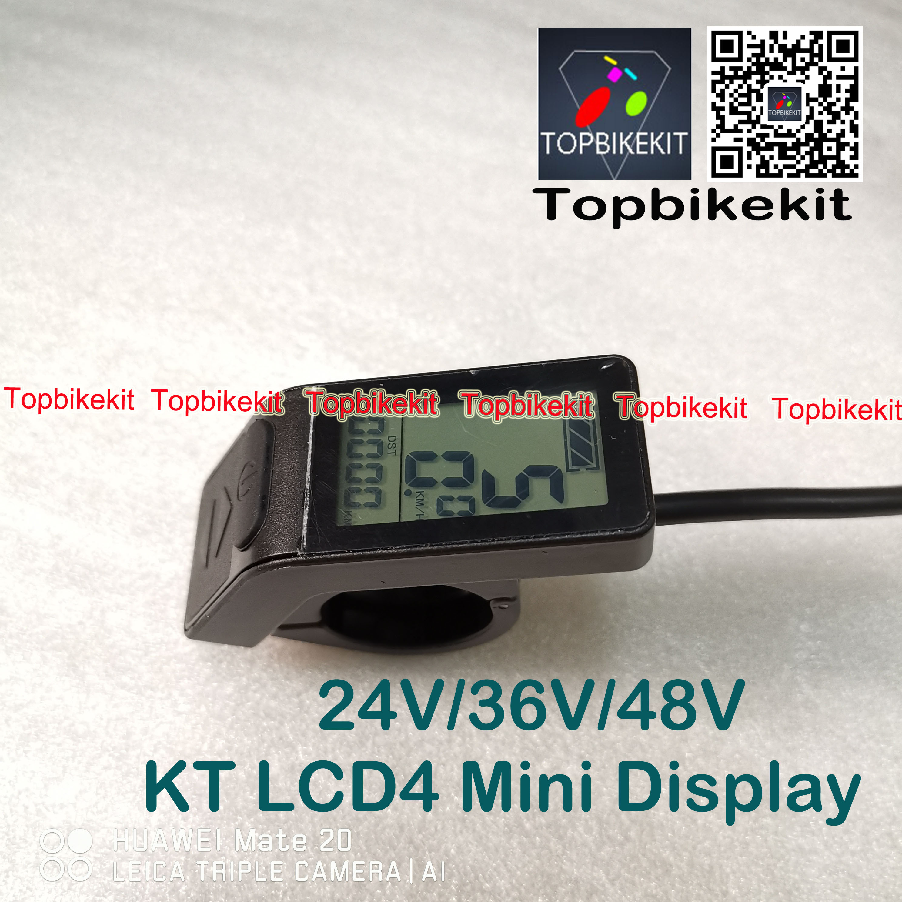 1* 24V//36V//48V Electric Bicycle Mini Display KT-LCD4 E-bike Display Panel Meter