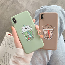 New Cute Boba Phone Case For iPhone 11Pro Max For iPhone X X