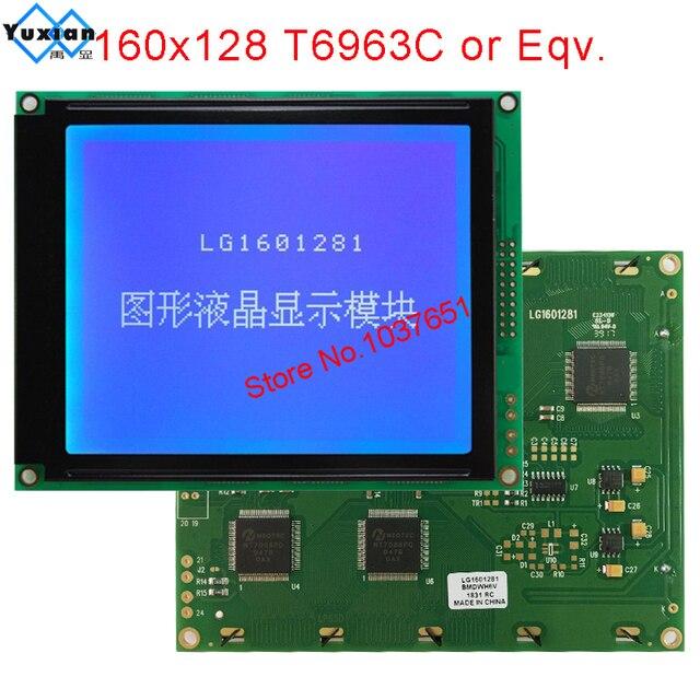 โมดูล LCD 160X128 160128 หน้าจอสีฟ้า T6963C LG1601281BMDWH6V ใช้งานร่วมกับ WG160128E