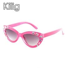 Kilig Hot Children Sunglasses New Fashion Rhinestone Kids Sun glasses Boy Girl c