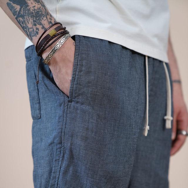Plaid Checked Shorts with drawstrings