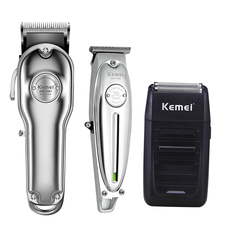 Kemei Men Professional All Metal Hair Clipper Barber Haircut Kits Combos 0mm Hair Trimmer KM-1997 KM-1996 KM-1949 KM-102 KM-1986