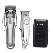 цена на Kemei Men Professional All Metal Hair Clipper Barber Haircut Kits Combos 0mm Hair Trimmer KM-1997 KM-1996 KM-1949 KM-102 KM-1986