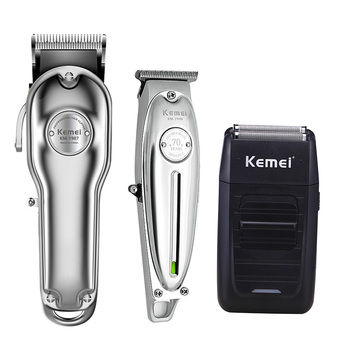 Kemei Men Professional All Metal Hair Clipper Barber Haircut Kits Combos 0mm Hair Trimmer KM-1997 KM-1996 KM-1949 KM-102 KM-1986 цена 2017
