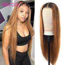 1B 27 Ombre ludzki włos peruka brazylijski prosto miód blond koronkowa peruka na przód 200 gęstość 13x6 kolorowe koronki przodu peruki z ludzkich włosów